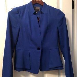 Royal blue suit jacket.